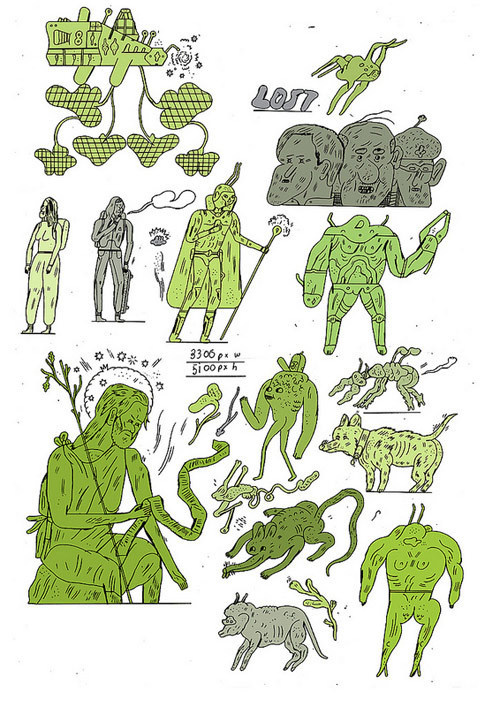 Drawings by Jon Boam #drawn #hand