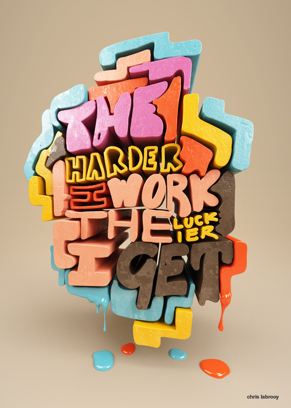 Quotation experiments on Behance #cgi #lettering #3d #typography