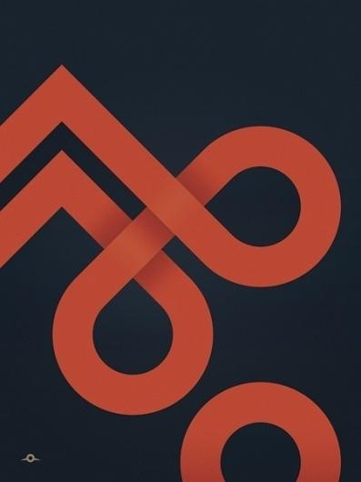 45 Creative Poster Designs #peaks #infinite #loops