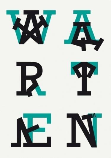 VALENTIN PAUWELS   warten #tyograpghy #design #graphic #pauwels #warten #valentin #poster #slab
