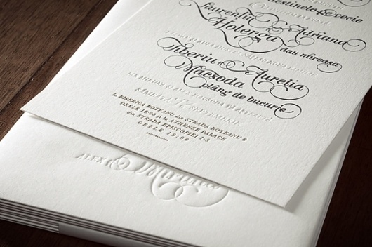 The Wedding Invitations on the Behance Network #wedding #lettering #letterpress #invitation