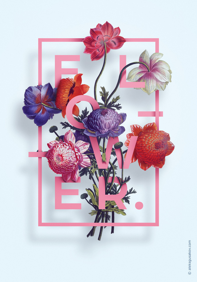 Illustration «Flower» by Aleksandr Gusakov #poster #flower #illustration #graphic #design