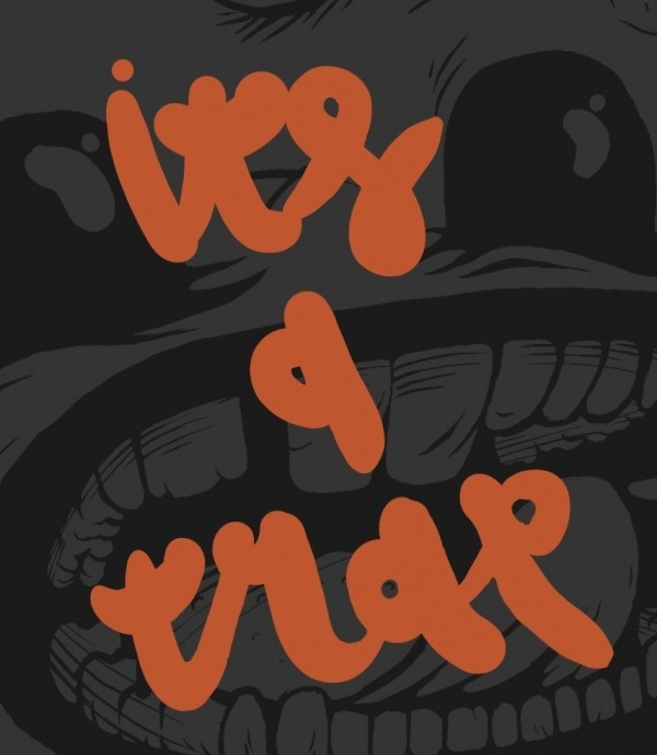 red ink on paper #monsta #shop #trap #remix #artwork #poster #hip