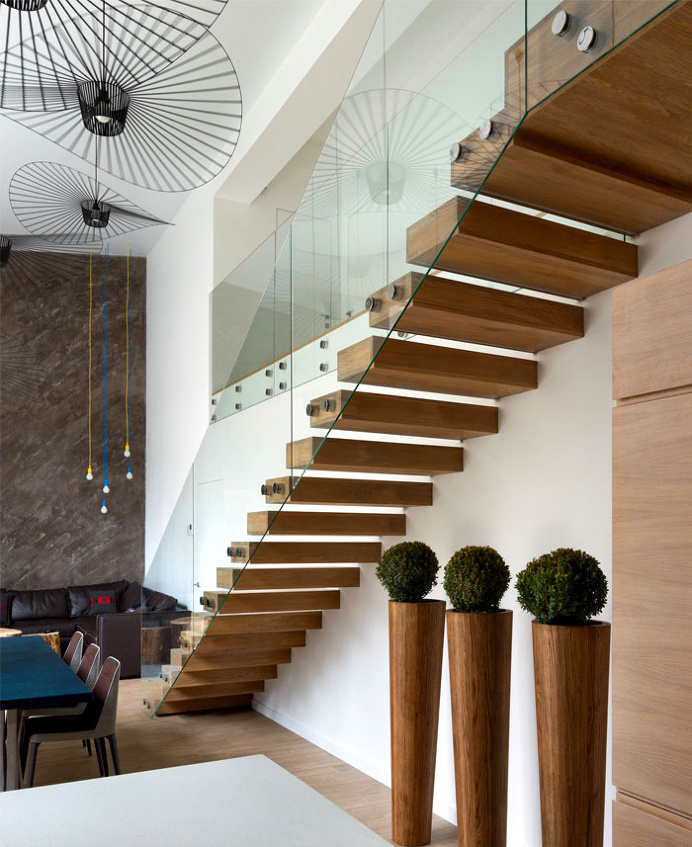 Cube House by Yakusha Design Studio - #stairs, #staircase, #stairway, architecture, stairs