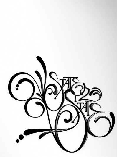 State 2 State : NKeppol #print #flourish #poster #typography