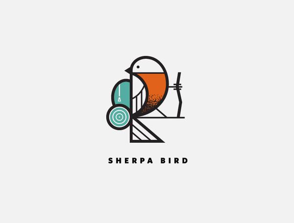 Sherpa Bird #j #logo #fletcher