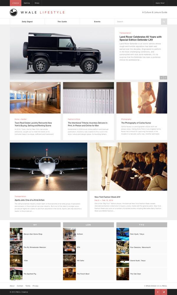 Whale Lifestyle Website by R&Co. Design #grid #design #web #minimal