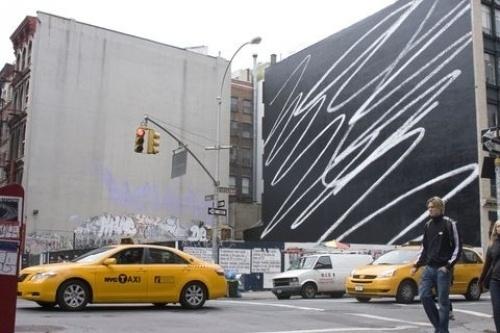 Design Envy · Scribble: Karl Haendel #painting #scribble #mural #art