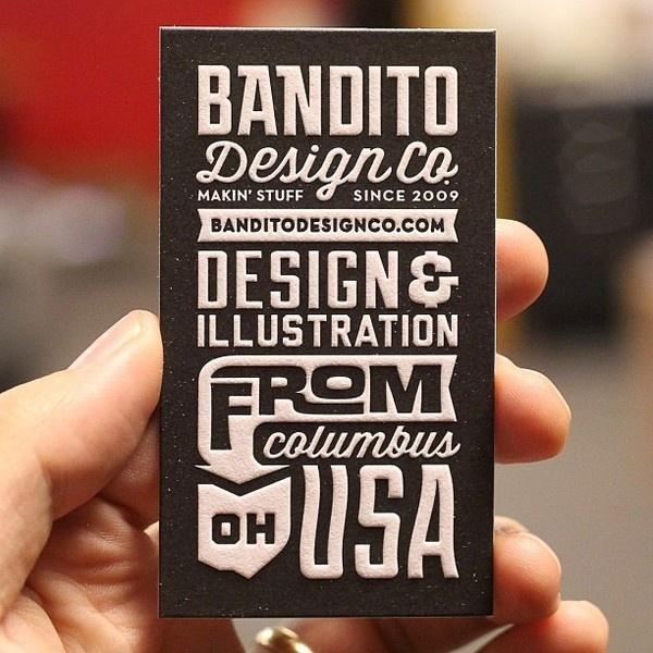 Bandito Design Co. #type #design #letterpress #businesscard