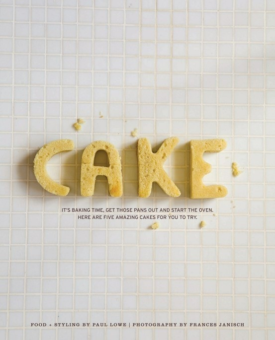 Imagen pineada #cake #type #photography #typography