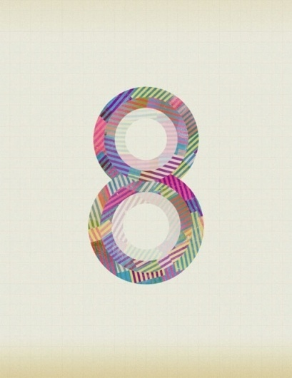 design work life » cataloging inspiration daily #lettering #design #colorful #number #type