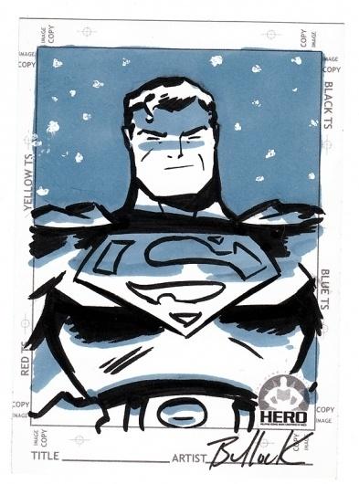 Superman HERO INITIATIVE card by ~DaveBullock on deviantART #marker #dave #illustration #bullock #duotone #comics #superman
