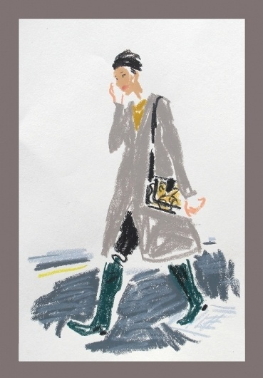 London Fashion Week   Snap Sketch - NYTimes.com #sketch #london fashion week #damien florbert cuyuper #quick