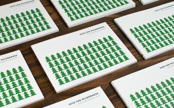 INTO THE WILDERNESS CECILIA HEDIN #stamp #pattern #tree #book #hot #deboss #stationery #postcard