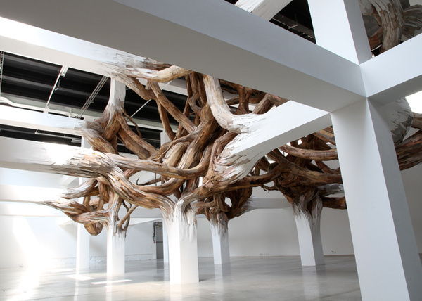 Baitogogo by Henrique Oliveira for Palais de Tokyo #environmental #architecture #installation