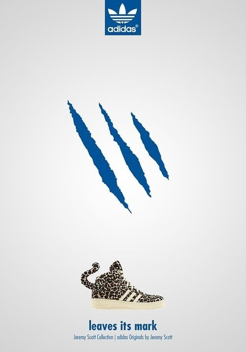 Adidas - leaves its mark #design #advertising #poster #creativity #concept #adidas #ads #adv