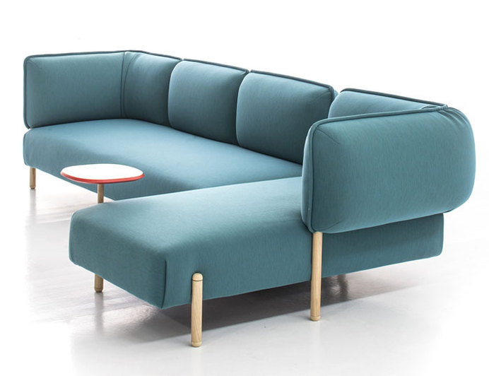 Flexible Modern Modular Sofa By Patricia Urquiola Bright Color Rounded Shape Furniture
