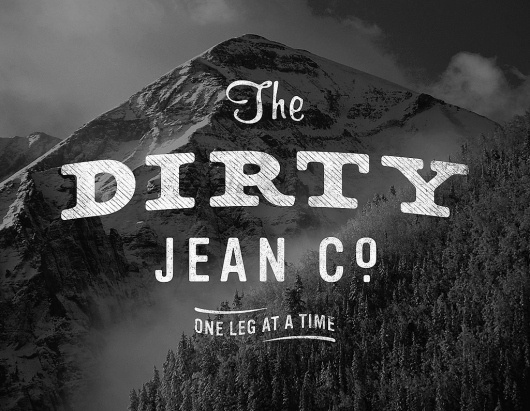 All sizes | The Dirty Jean Co. | Flickr - Photo Sharing! #bw #typography