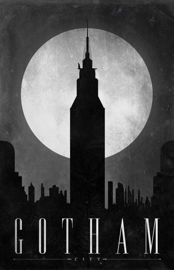 All sizes | Gotham | Flickr - Photo Sharing! #minimalist #design #poster #batman