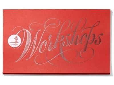 Dribbble - Workshops 400x300 by Ken Barber #type #lettering #script #silver