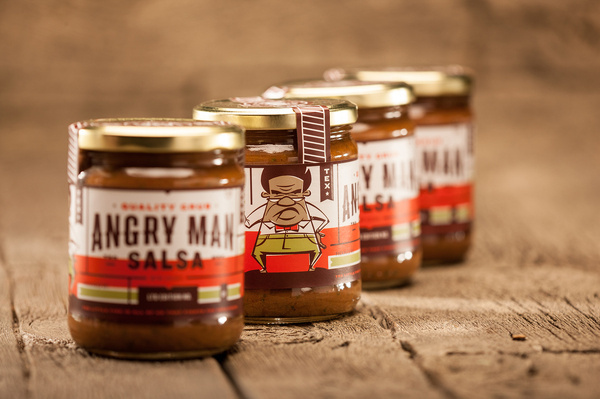 Angry Man Salsa Packaging by Foundry Co #packaging #salsa