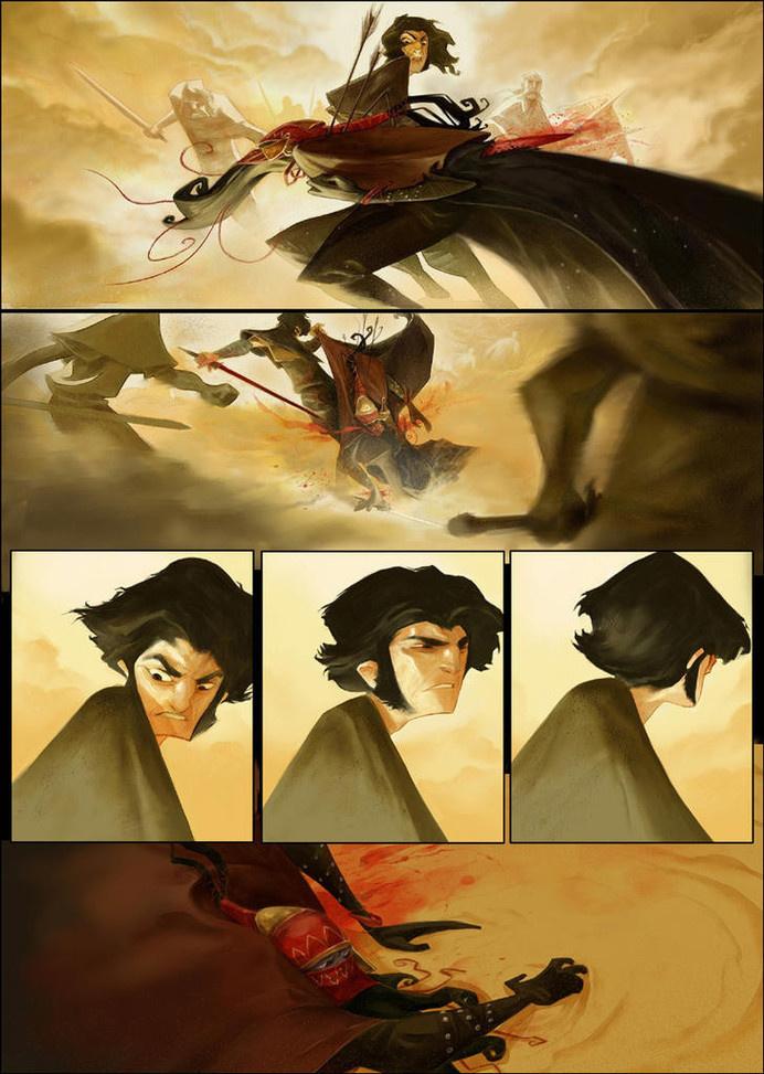 (ca-tsuka: Comic book / animation artist Enrique...) #illustration #comic #art #painting #design #story #narrative