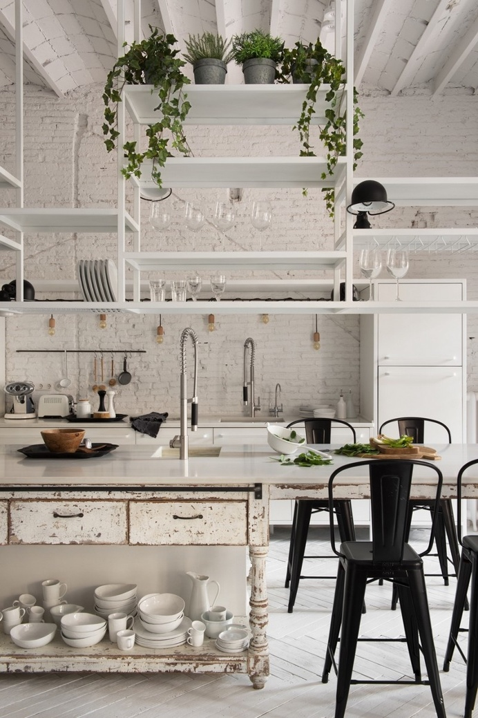 Eixample Loft – Two Apartments United into a Charming Home