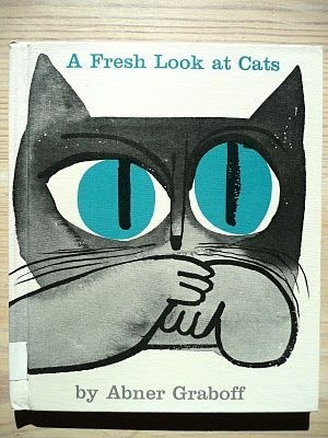 A Fresh Look at Cats Abner Graboff #ink #eyes #cat #cover #illustration #watercolour