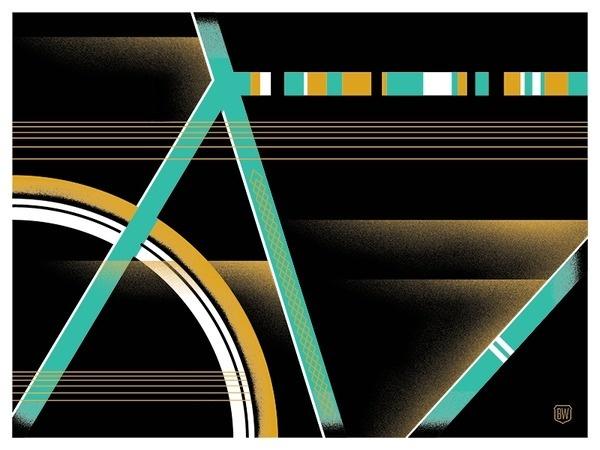 Image of Bike Lines #bicycle #bike #poster