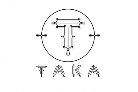 Logo Designs on the Behance Network #white #taka #japanese #kelava #black #restaurant #type