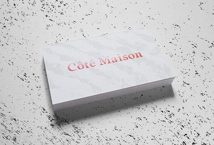 Côté Maison by Studio 24/24 #business card #branding