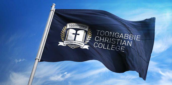 TOONGABBIE CHRISTIAN COLLEGE RE-BRANDING #branding #identity #school #college #inspiration #rebranding #handlebranding #graphicdesign #icon #shield #flag #christian #visualidentity #blue #gold #white