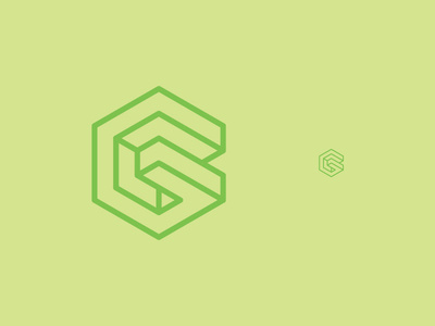 G is for Green #octahedron #minimal #logo #3d #cube