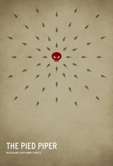 The Pied Pipper | Square Inch Design Blog #pied #piper #minimal #poster