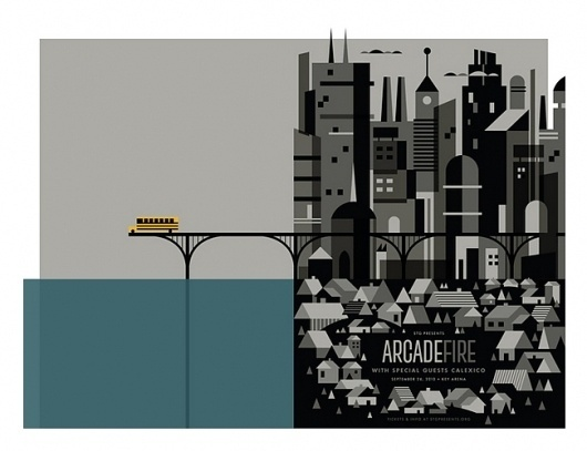 Arcade Fire concert poster by Invisible Creature #arcade #fire #poster #show #invisible #concert #creature