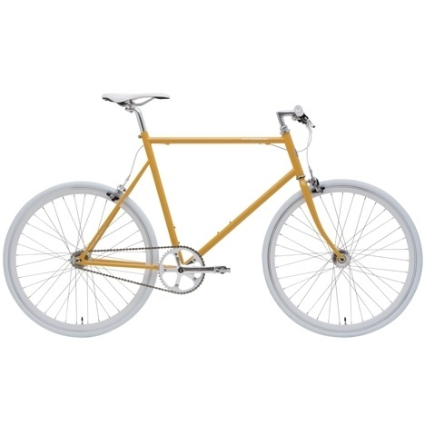 Dezeen architecture and design magazine #white #bicycle #yellow #gear #chain #bike #pedal