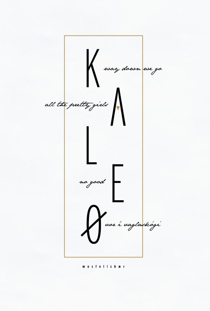 kaleo band poster, band, poster design, poster, music album, fan art, album, music, graphic design, simple design, clean design, nature, nat