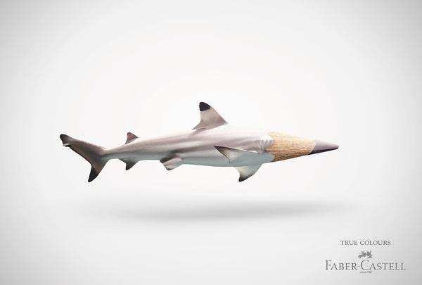fabercastell truecolours hai #photography #3d #advertising