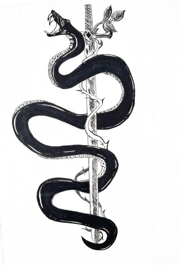 Snake Tattoo by BlackdRose