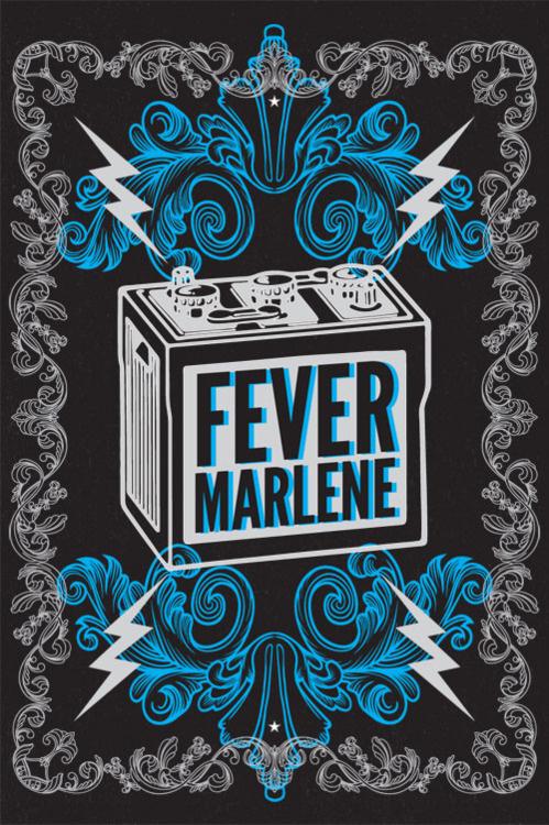 FM Battery Screen Print By Rev Pop #milwaukee #print #design #screen #poster #music #marlene #band #fever