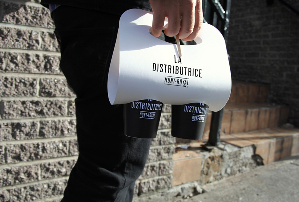 Smallest cafe place in North America, visual identity on Behance #packaging