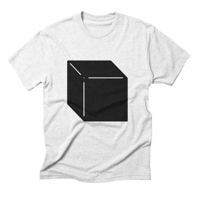 Shapes Cube by Rickard Arvius #tshirt #fashion #vectorart #threadless #apparel #minimalistic #minimalism #cube #geometric
