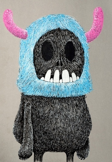 All sizes | Cliff | Flickr - Photo Sharing! #teeth #uberkraaft #drawing #fur #monster #skull #character