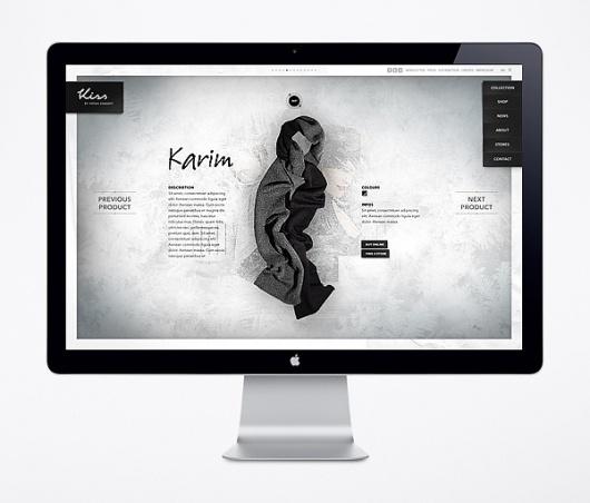 Website / Kiss by Fiona Bennett on the Behance Network #web #fullscreen