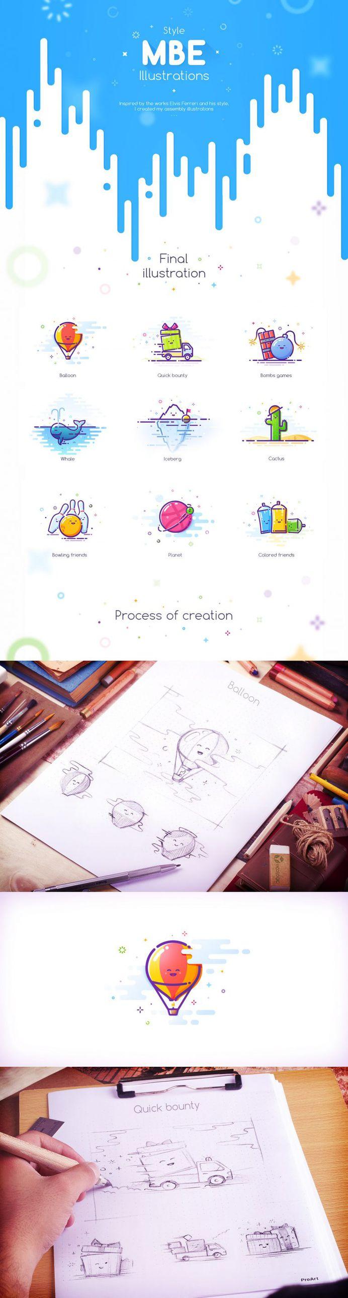 MBE Style Illustration process