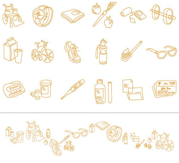 HEALTH VAULT Ethan Keller Branding #illustration #icons