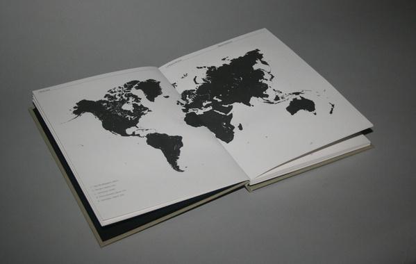 A Drop In The Ocean on the Behance Network #international #binding #islands #format #design #graphic #book #map #publication #earth #world #travel #jonathan #finch #passport