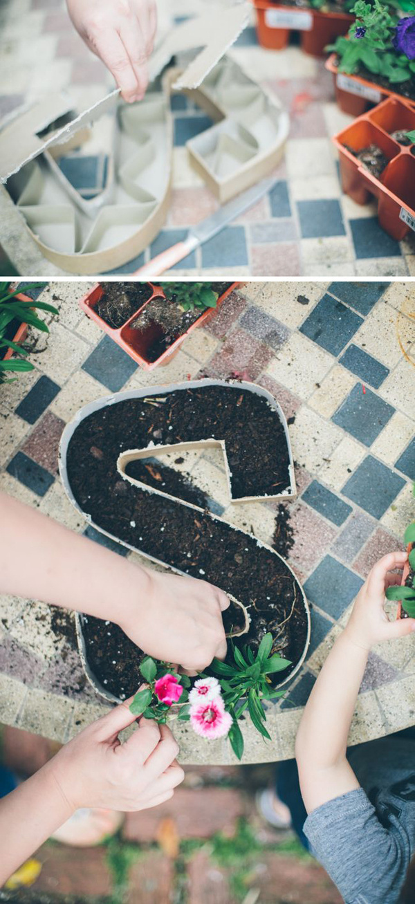 How to make letter planters #yourself #do #planter #it #flower #decoration
