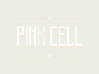 Dribbble - Pink Cell font by David Slaager #fonts #font #pastel #pixel #soft #typo #typography