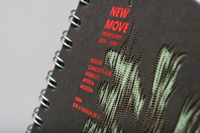 New Move trend diary, laser etched cover